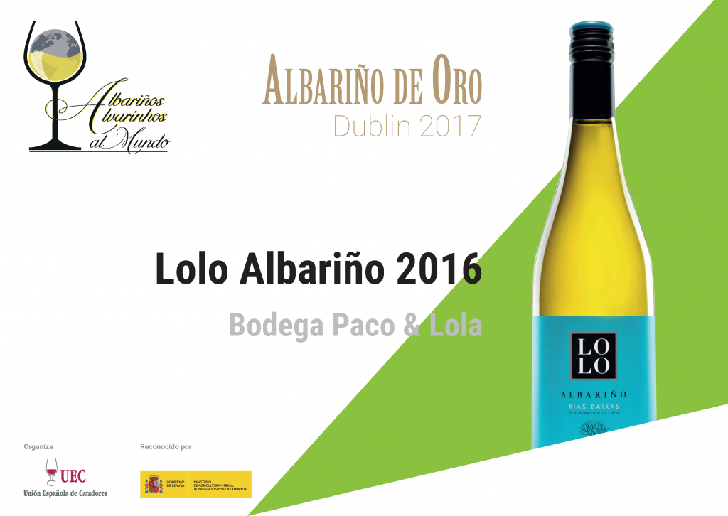 November 2017: Paco & Lola LOLO Albariño wine wins award