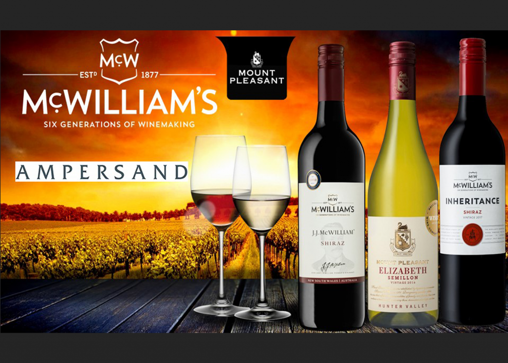 April 2019: McWilliam's Wines Group Appoint Ampersand as Distributor for Irish Market