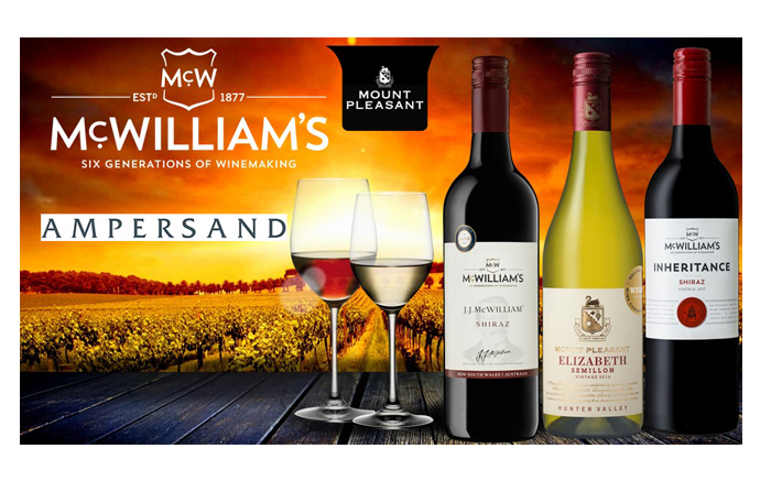 Ampersand appointed exclusive Irish distributor for McWilliams Australian wine agency