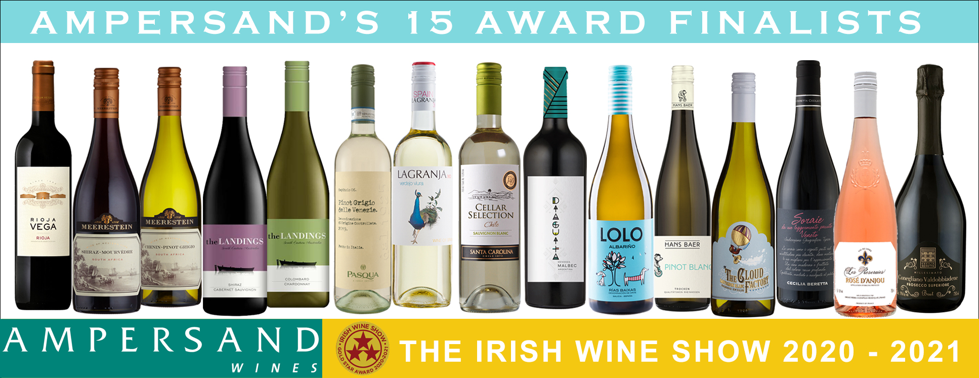 Ampersand Wines: 15 Finalist Wines in the upcoming Irish Wine Show Awards