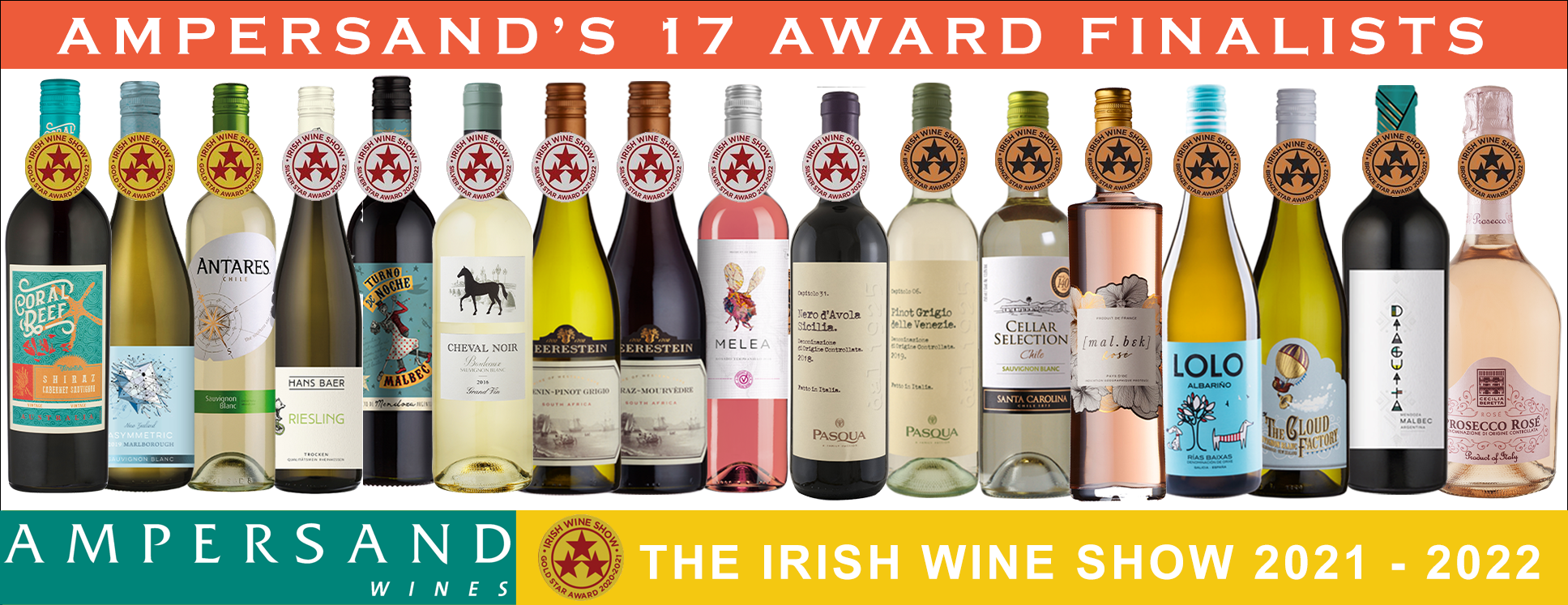 AMPERSAND WINES WIN 3 GOLD, 7 SILVER & 7 BRONZE AT THE IRISH WINE SHOW AWARDS