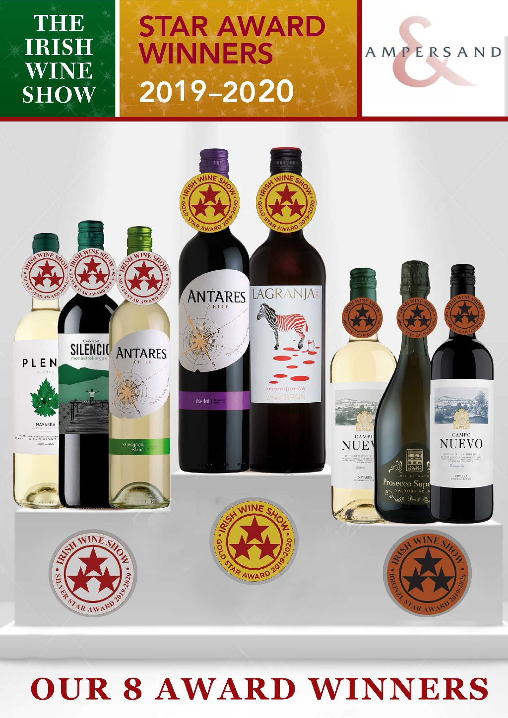 October 2019: Ampersand Win 8 Awards at the Irish Wine Show 2019