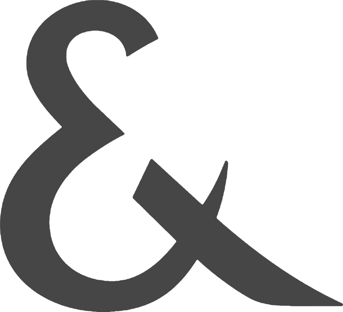 Media Library - Ampersand dark grey smbol